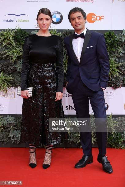 Nikolai Kinski and Antje Traue attend the Lola - German Film Award red carpet at Palais am Funkturm on May 03, 2019 in Berlin, Germany.