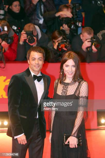 Nikolai Kinski and Antje Traue attend the 'The Kindness Of Strangers' premiere during the 69th Berlinale International Film Festival Berlin at...