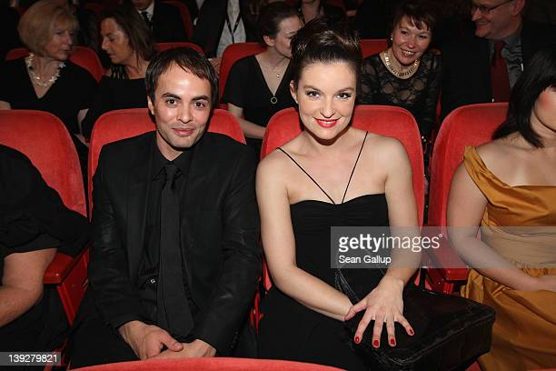 Nikolai Kinski and girlfriend Ina Paule Klink attend the Closing Ceremony during day ten of the 62nd Berlin International Film Festival at the...