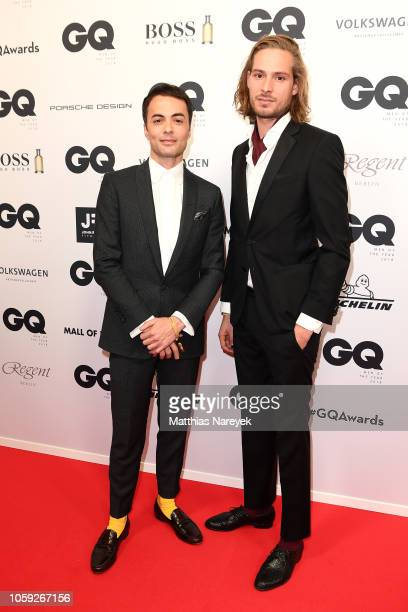 Nikolai Kinski and guest arrive for the 20th GQ Men of the Year Award at Komische Oper on November 8 2018 in Berlin Germany