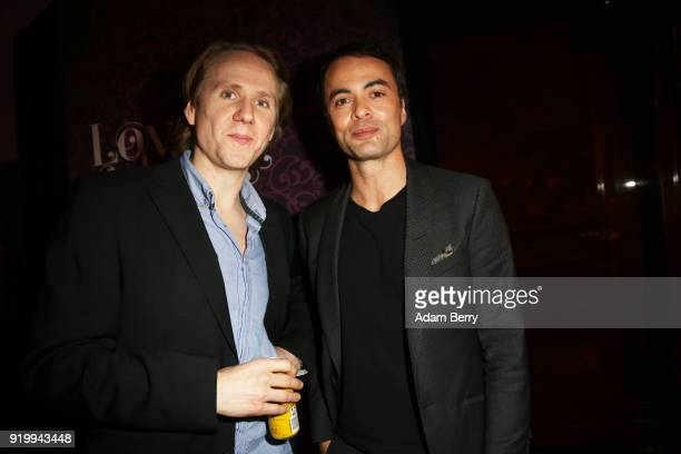 Nikolai Kinski and guest the Medienboard BerlinBrandenburg Arrivals during the 68th Berlinale International Film Festival Berlin at on February 17...