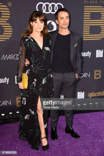 Nikolai Kinski and his girlfriend Ina Paule Klink attend the PLACE TO B Party on February 17 2018 in Berlin Germany