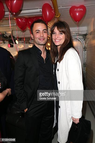 Nikolai Kinski and his girlfriend Ina Paule Klink during the 'Drunk In Love' Party hosted by Constantin Film and zLabels on February 14, 2016 in...