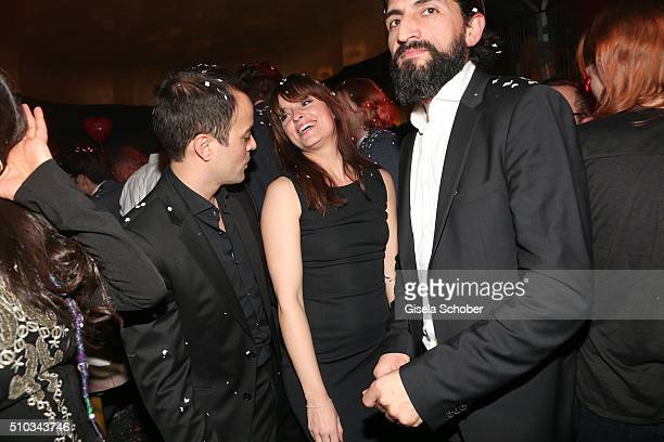Nikolai Kinski and his girlfriend Ina Paule Klink during the 'Drunk In Love' Party hosted by Constantin Film and zLabels on February 14 2016 in...