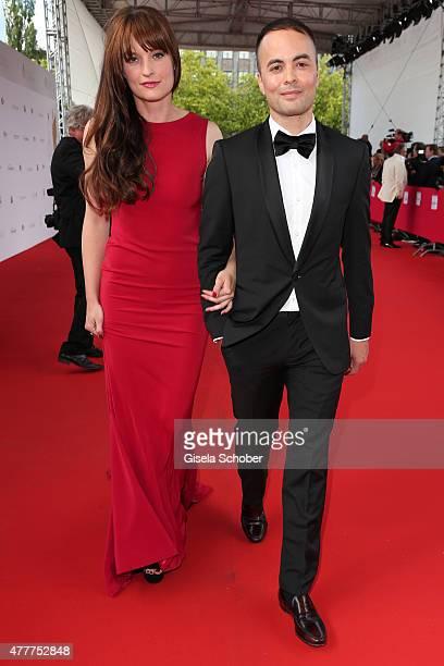 Nikolai Kinski and Ina Paule Klink arrive for the German Film Award 2015 Lola at Messe Berlin on June 19 2015 in Berlin Germany