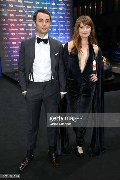 Nikolai Kinski and Ina Paule Klink arrive for the GQ Men of the year Award 2017 at Komische Oper on November 9 2017 in Berlin Germany