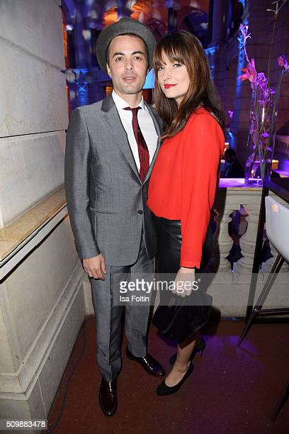 Nikolai Kinski and Ina Paule Klink attend the ARD Hosts Blue Hour Reception on February 12 2016 in Berlin Germany