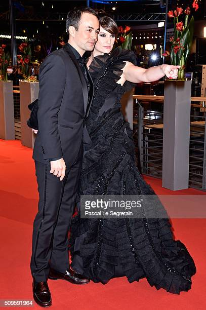 Nikolai Kinski and Ina Paule Klink attend the 'Hail Caesar' premiere during the 66th Berlinale International Film Festival Berlin at Berlinale Palace...