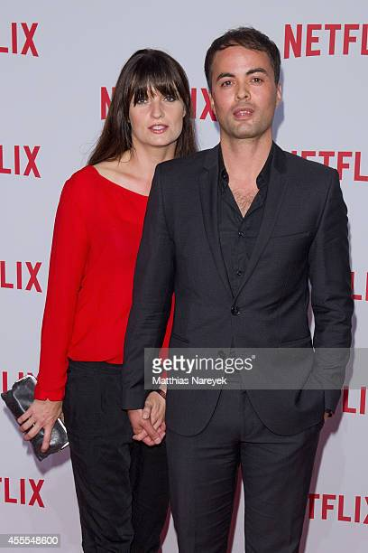Nikolai Kinski and Ina Paule Klink attend the Netflix pre launch party at Komische Oper on September 16 2014 in Berlin Germany