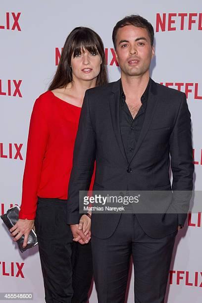 Nikolai Kinski and Ina Paule Klink attend the Netflix pre launch party at Komische Oper on September 16, 2014 in Berlin, Germany.