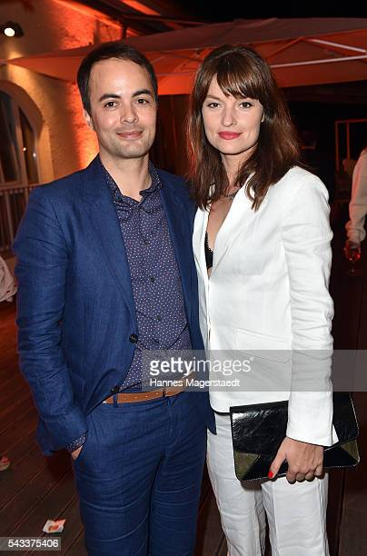 Nikolai Kinski and Ina Paule Klink attend the UFA Fiction Reception during the Munich Film Festival 2016 at Cafe Reitschule on June 27 2016 in Munich...