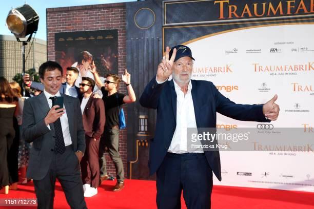 """Nikolai Kinski and Michael Gwisdek during the """"Traumfabrik"""" Movie Premiere on June 24, 2019 in Berlin, Germany."""