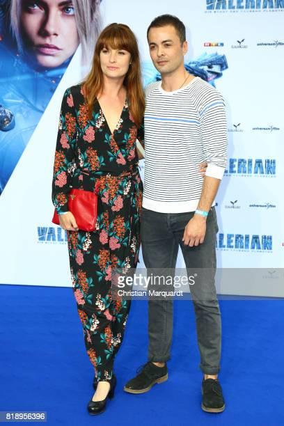 Nikolai Kinski and partner attend Ina Paule Klink the German premiere of the 'Valerian Die Stadt der Tausend Planeten' at CineStar on July 19 2017 in...