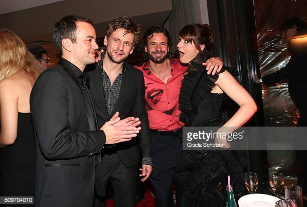 Nikolai Kinski guest Stephan Luca and Ina Paule Klink during the 'Berlin Opening Night of GALA UFA Fiction' at Das Stue Hotel on February 11 2016 in...
