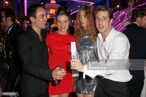 Nikolai Kinski Ina Paule Klink Elena Rott and David Rott attend the German TV Award 2012 at Coloneum on October 2 2012 in Cologne Germany