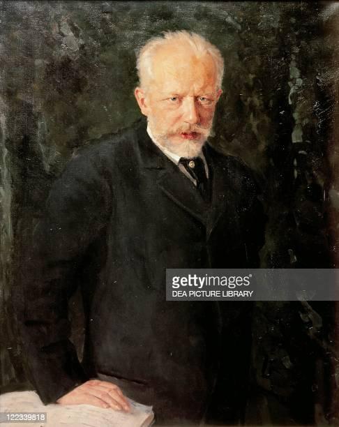 Nikolai Kutznetsov Portrait of Pyotr Ilyich Tchaikovsky Russian composer 1893
