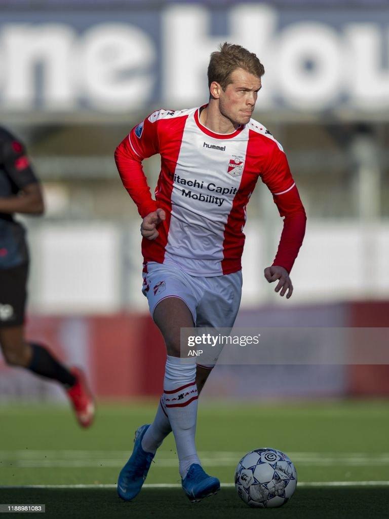 Nikolai Laursen of FC Emmen during the Dutch Eredivisie match ...