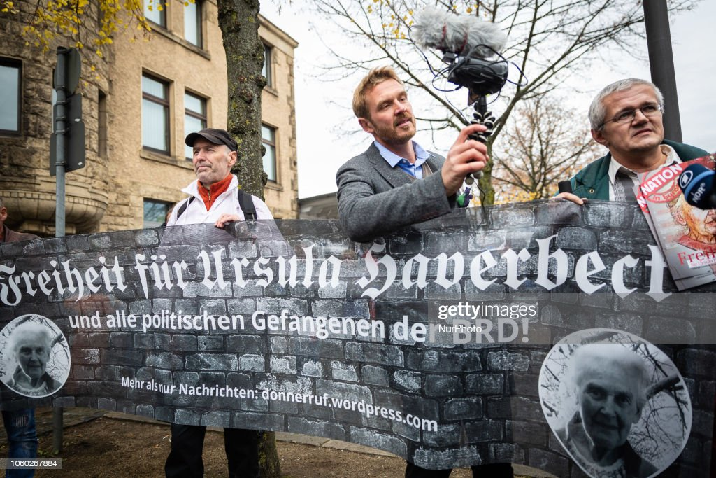 Neonazis Demonstrate In Solidarity With Holocaust Denier Ursula Haverbeck : News Photo