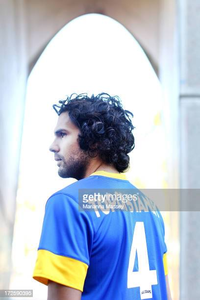 Nikolai ToporStanley poses for a portait during the ALeague All Stars Player Announcement at ANZ Stadium on July 4 2013 in Sydney Australia