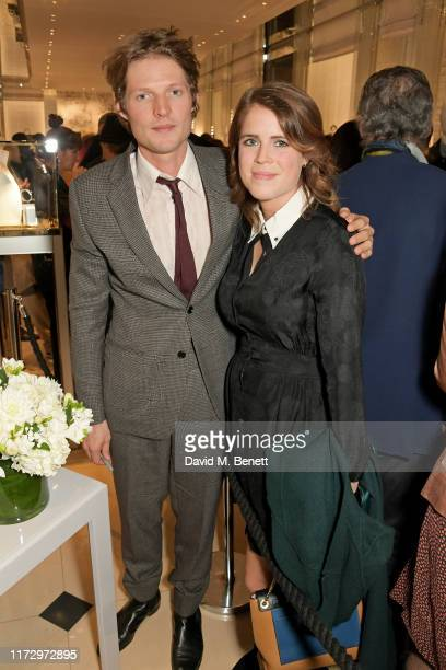 Nikolai Von Bismarck and Princess Eugenie of York attend the Dior Sessions book launch on October 01, 2019 in London, England.