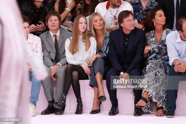 Nikolai von Bismarck Kate Moss with her daughter Lila Moss CEO of Dior Pietro Beccari and his wife Elisabetta Beccari attend the Dior Homme Menswear...