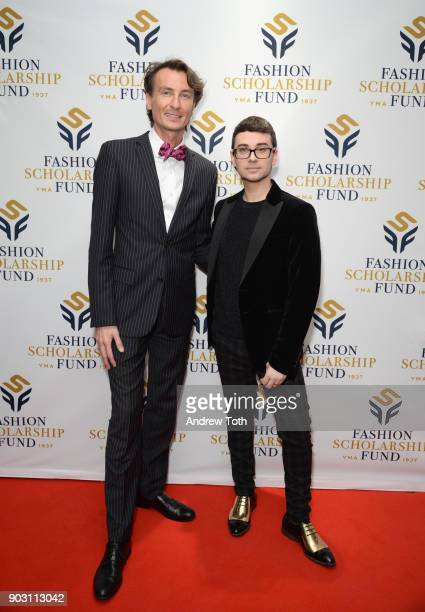Nikolaj Bauer and Honoree Fashion Designer Christian Siriano attend the 81st Annual YMA Fashion Scholarship Fund National Merit Scholarship Awards...