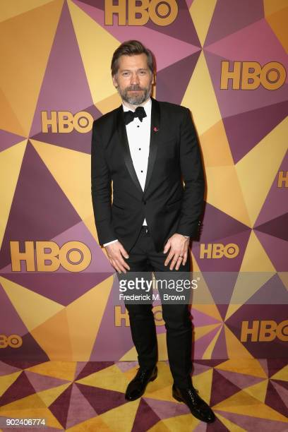 Nikolaj Coster Waldau attends HBO's Official Golden Globe Awards After Party at Circa 55 Restaurant on January 7 2018 in Los Angeles California