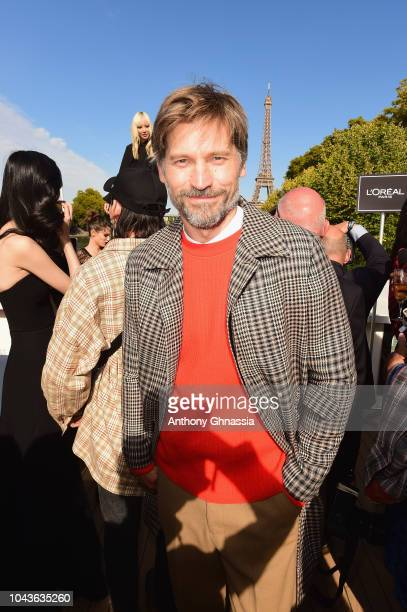 Nikolaj Coster Waldau attends Le Defile L'Oreal Paris as part of Paris Fashion Week Womenswear Spring/Summer 2019 on September 30 2018 in Paris France