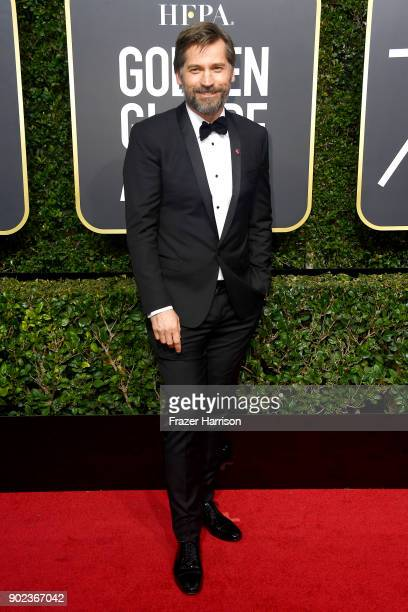 Nikolaj Coster Waldau attends The 75th Annual Golden Globe Awards at The Beverly Hilton Hotel on January 7 2018 in Beverly Hills California