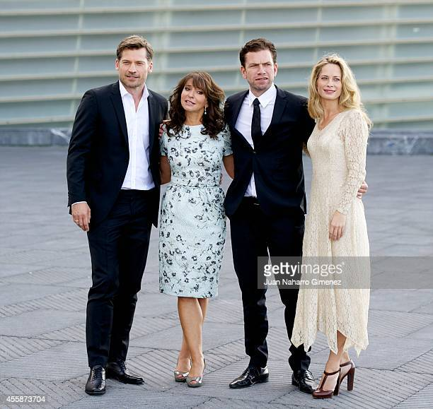 Nikolaj Coster Waldau Susanne Bier Nikolaj Lie Kaas and Maria Bonnevie attend 'En Chance Til/A Secon Chance' photocall during 62nd San Sebastian...