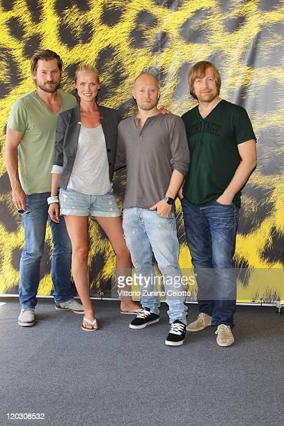 Nikolaj Coster Waldau, Synnove Macody Lund, Aksel Hennie, Morten Tyldum attends the Headhunters photocall during the 64th Festival del Film di...