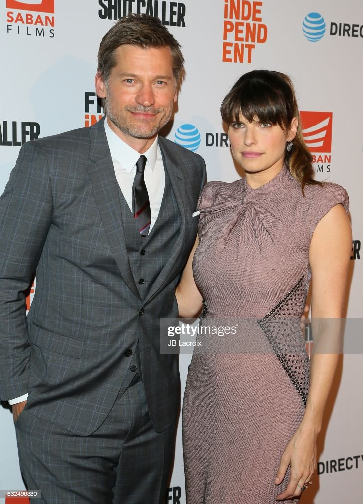 Nikolaj Coster-Waldau and Lake Bell attend the screening of Saban Films and DIRECTV's 'Shot Caller' on August 15, 2017 in Los Angeles, California.