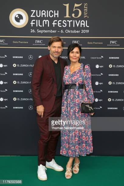 "Nikolaj Coster-Waldau and Nukaaka Coster-Waldau attend the ""Suicide Tourist"" premiere during the 15th Zurich Film Festival at Kino Corso on October..."