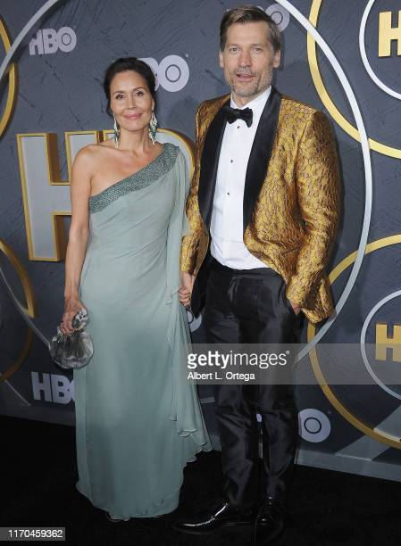 Nikolaj Coster-Waldau and wife Nukaaka Coster-Waldau arrive for the HBO's Post Emmy Awards Reception held at The Plaza at the Pacific Design Center...
