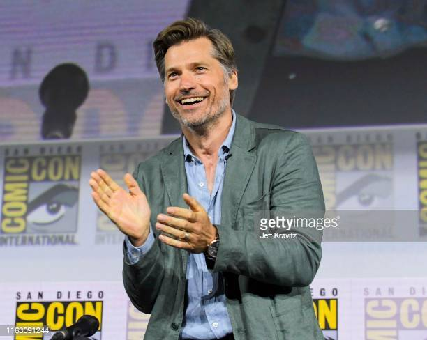 "Nikolaj Coster-Waldau at ""Game Of Thrones"" Comic Con Autograph Signing 2019 on July 19, 2019 in San Diego, California."