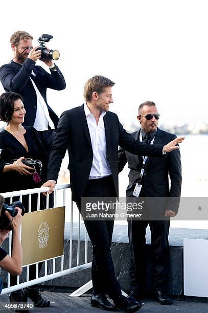 Nikolaj CosterWaldau attend 'En Chance Til/A Secon Chance' photocall during 62nd San Sebastian Intertantional Film Festival at the Kuraal Palace on...