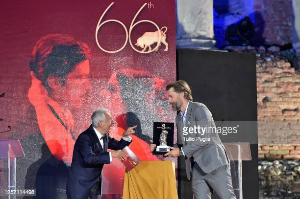 Nikolaj CosterWaldau attend the closing night of the Taormina Film Festival on July 19 2020 in Taormina Italy