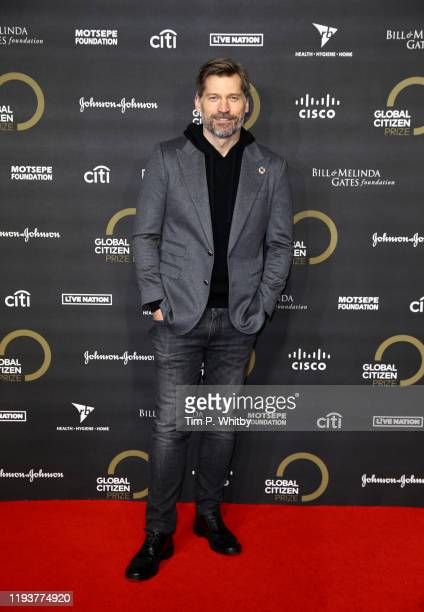 Nikolaj Coster-Waldau attends the 2019 Global Citizen Prize at the Royal Albert Hall on December 13, 2019 in London, England.