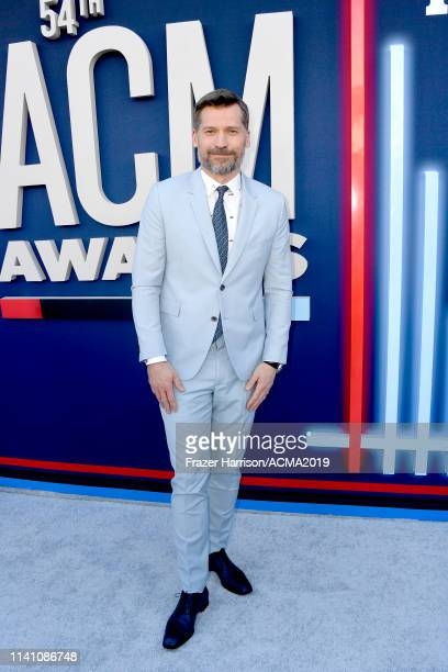 Nikolaj CosterWaldau attends the 54th Academy Of Country Music Awards at MGM Grand Garden Arena on April 07 2019 in Las Vegas Nevada