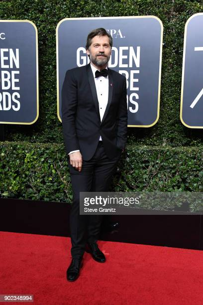 Nikolaj CosterWaldau attends The 75th Annual Golden Globe Awards at The Beverly Hilton Hotel on January 7 2018 in Beverly Hills California