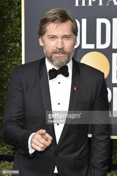 Nikolaj CosterWaldau attends the 75th Annual Golden Globe Awards Arrivals at The Beverly Hilton Hotel on January 7 2018 in Beverly Hills California
