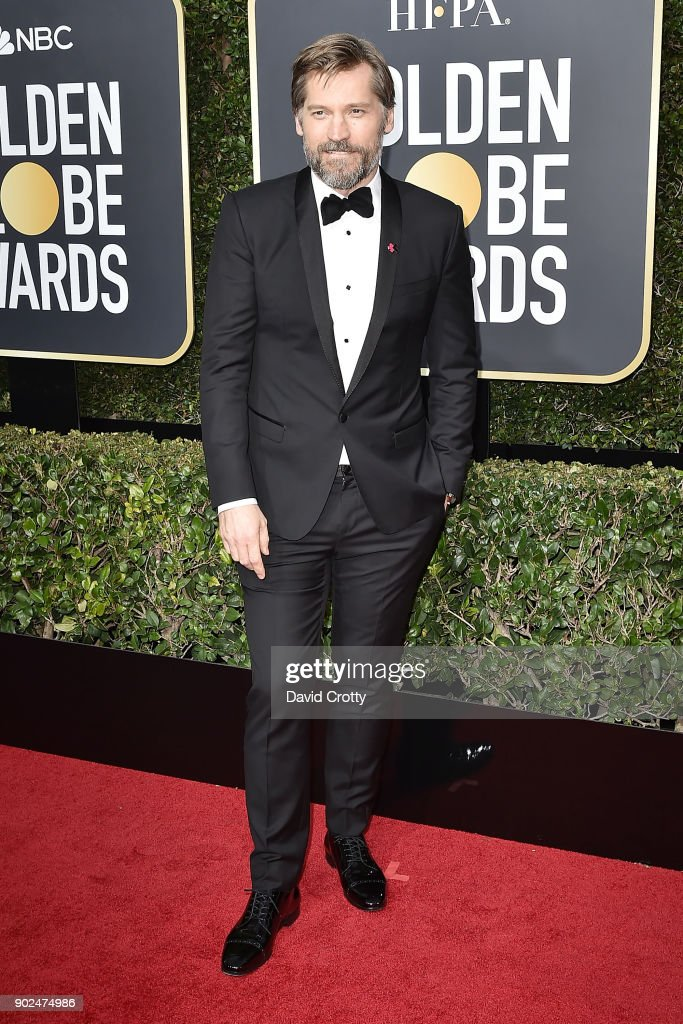Nikolaj Coster-Waldau attends the 75th Annual Golden Globe Awards - Arrivals at The Beverly Hilton Hotel on January 7, 2018 in Beverly Hills, California.