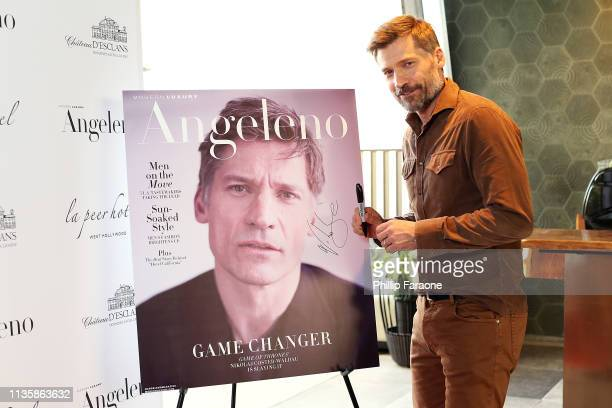 Nikolaj Coster-Waldau attends the Angeleno Magazine celebration for it's April issue with Nikolaj Coster-Waldau on April 8, 2019 in West Hollywood,...