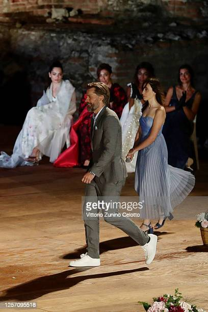 Nikolaj CosterWaldau attends the closing night of the Taormina Film Festival on July 19 2020 in Taormina Italy
