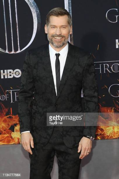 "Nikolaj Coster-Waldau attends the Season 8 premiere of ""Game of Thrones"" at Radio City Music Hall on April 3, 2019 in New York City."
