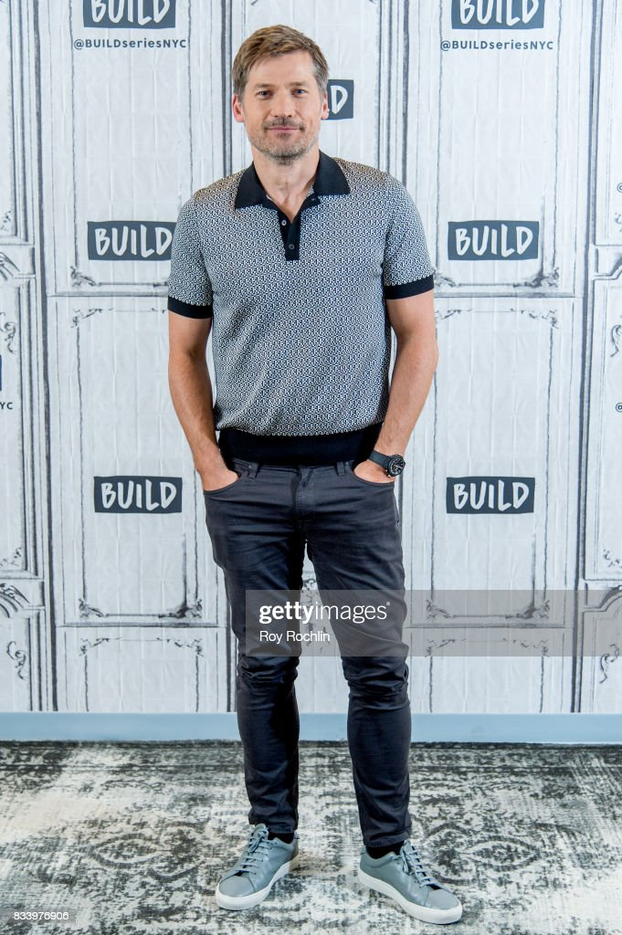 Nikolaj Coster-Waldau discusses 'Shot Caller' with the Build Series at Build Studio on August 17, 2017 in New York City.