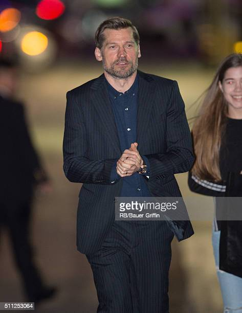 Nikolaj Coster-Waldau is seen at 'Jimmy Kimmel Live' on February 18, 2016 in Los Angeles, California.