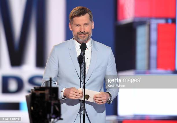 Nikolaj Coster-Waldau speaks onstage during the 54th Academy Of Country Music Awards at MGM Grand Garden Arena on April 07, 2019 in Las Vegas, Nevada.