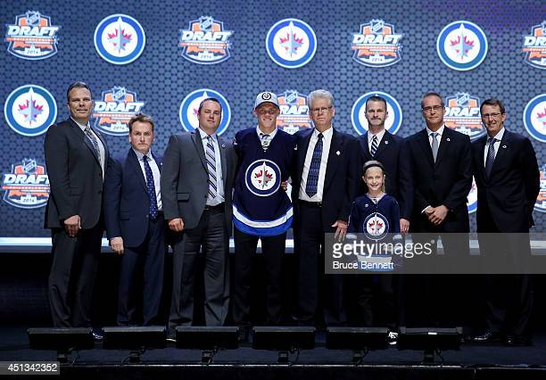 Nikolaj Ehlers is selected ninth overall by the Winnipeg Jets in the first round of the 2014 NHL Draft at the Wells Fargo Center on June 27 2014 in...