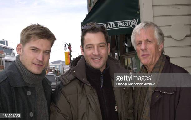 Nikolaj Waldau Michael Apted Jeremy Northam during Sundance 2001 Enigma Portraits in Park City Utah United States